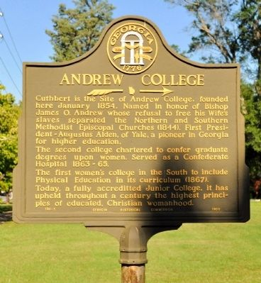 Andrew College Marker image. Click for full size.
