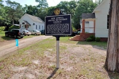 New Lowell United Methodist Church Marker image. Click for full size.