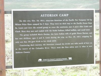 Astorian Camp Marker image. Click for full size.