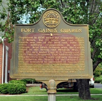Fort Gaines Guards Marker image. Click for full size.