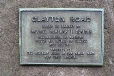 Clayton Road Marker image. Click for full size.