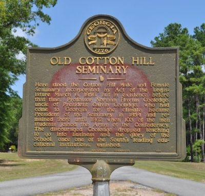 Old Cotton Hill Seminary Marker image. Click for full size.