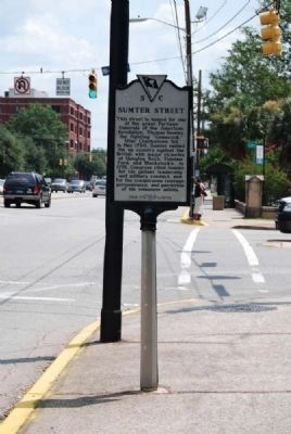 Sumter Street Marker<br>Reverse image. Click for full size.