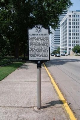 Sumter Street Marker<br>Front image. Click for full size.