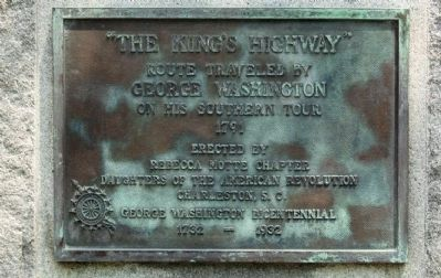 """The Kings Highway"" Marker image. Click for full size."