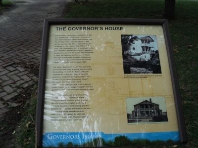 The Governor�s House Marker image. Click for full size.