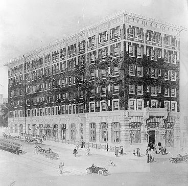 Jefferson Hotel<br>Architect&#39;s Drawing image. Click for full size.