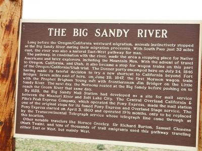 The Big Sandy River Marker image. Click for full size.