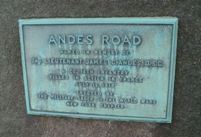 Andes Road Marker image. Click for full size.