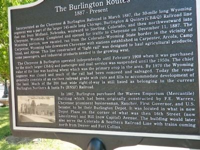 The Burlington Routes Marker - Side A image. Click for full size.