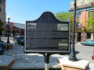 The Burlington Routes Marker - Side B image. Click for full size.