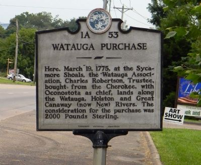 Watauga Purchase Marker image. Click for full size.