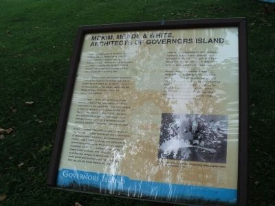McKim, Meade & White, Architects of Governors Island Marker image. Click for full size.