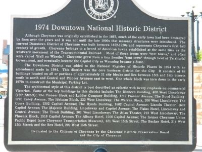 1974 Downtown National Historic District Marker image. Click for full size.