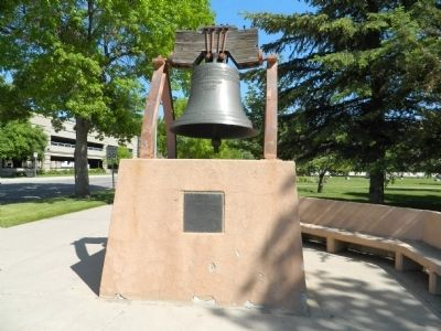 Wyoming's Liberty Bell Replica image. Click for full size.