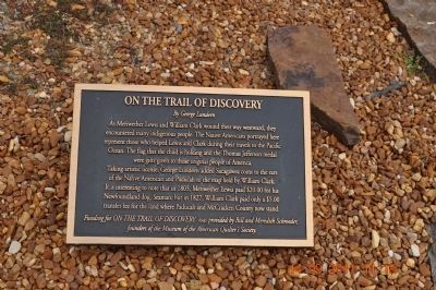 On the Trail of Discovery Marker image. Click for full size.