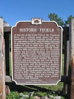Historic Fifield Marker image. Click for full size.