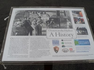 Oysters in the Harbor: A History Marker image. Click for full size.