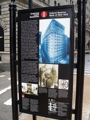 Federal Reserve Bank of New York Marker image. Click for full size.