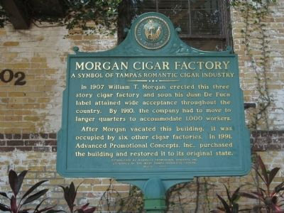 Morgan Cigar Factory Marker image. Click for full size.