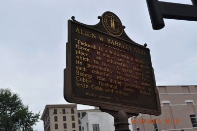 Alben W. Barkley Said: Marker image. Click for full size.