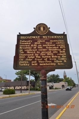 Broadway Methodist Marker image. Click for full size.