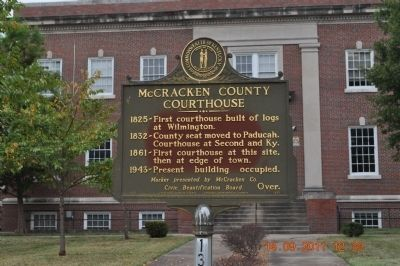 McCracken County Courthouse Marker image. Click for full size.