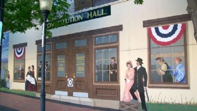 Constitution Hall -Topeka Mural image. Click for full size.