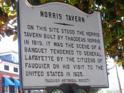 Norris Tavern face of Marker Photo, Click for full size