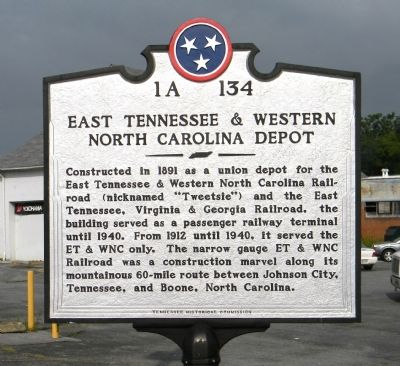 East Tennessee & Western North Carolina Depot Marker image. Click for full size.