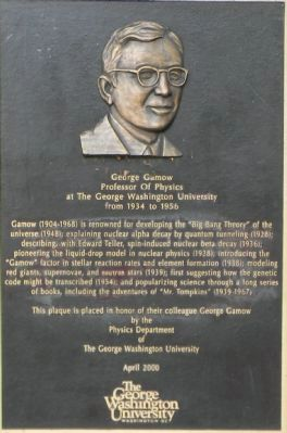 George Gamow Marker image. Click for full size.