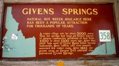 Idaho Transportation Department sign for Givens Springs image. Click for full size.