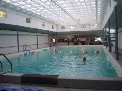 Givens Hot Springs naturally heated indoor swimming pool image. Click for full size.