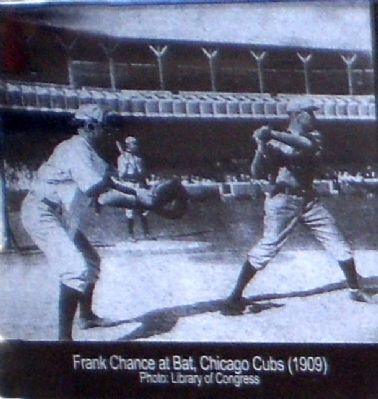 Frank Chance 1909 image. Click for full size.