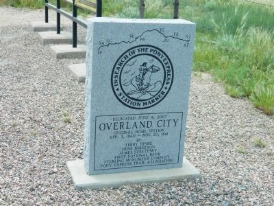 Overland City Marker image. Click for full size.