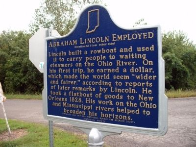 Side 'Two' - - Abraham Lincoln Employed Marker image. Click for full size.