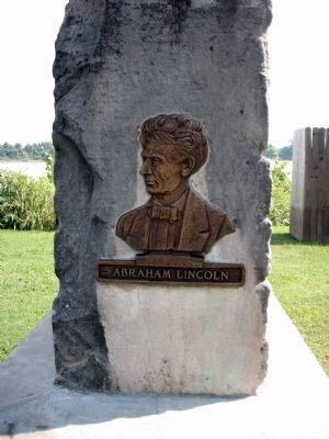 End View - - Abraham Lincoln Marker image. Click for full size.