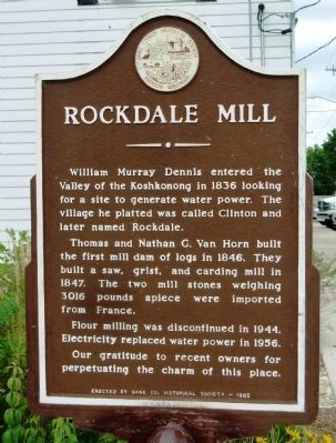 Rockdale Mill Marker Photo, Click for full size