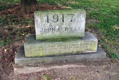 "Cornerstone from Spencer County Infirmary - - ""1917 John F. Pyle"" image. Click for full size."