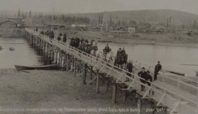 Cleary Creek miners arriving in Fairbanks with 1400 lbs. gold dust. May 20th 09 image. Click for full size.