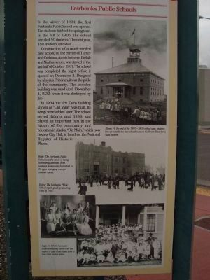 Fairbanks Public Schools Marker Photo, Click for full size