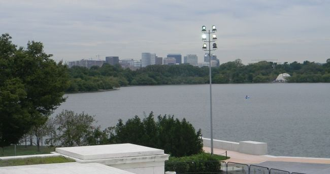 The Tidal Basin, viewed from the Thomas Jefferson Memorial image. Click for full size.
