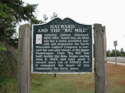 "Hayward and the ""Big Mill"" Marker image. Click for full size."