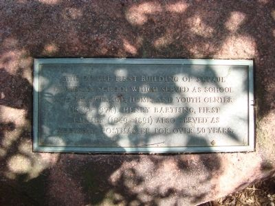 Site of St. Paul Lutheran School Marker Photo, Click for full size