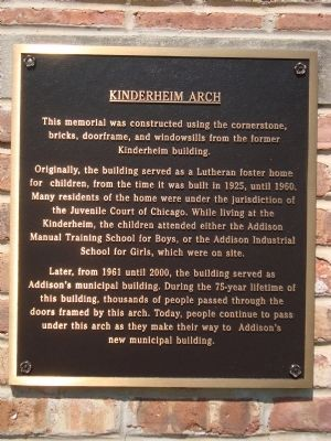 Kinderheim Arch Marker Photo, Click for full size