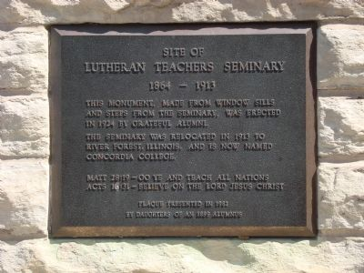 Site of Lutheran Teacher's Seminary Marker image. Click for full size.