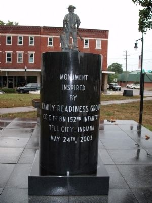 Obverse Side - - Army and Air National Guard Veterans Memorial Marker Photo, Click for full size