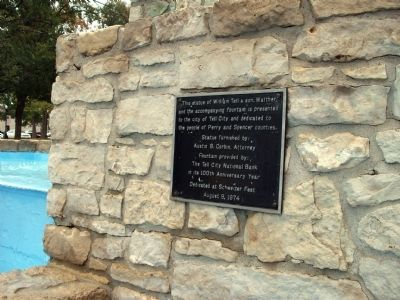Fountain 1974 Dedication Plaque - - To the People of Perry & Spencer Counties. Photo, Click for full size