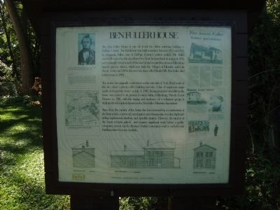 Ben Fuller House Marker Photo, Click for full size
