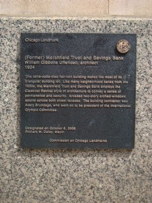 (Former) Marshfield Trust and Savings Bank Marker image. Click for full size.